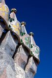 Gaudi Chimney Sturctures, Casa Batllo, Barcelona, Catalonia, Spain