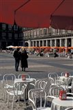 Cafe Tables in Plaza Mayor, Madrid, Spain
