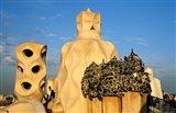 Antonio Gaudi's La Pedrera, Casa Mila, Barcelona, Spain