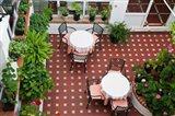 Spain, Andalusia, Arcos De la Fontera Breakfast Room of a Hotel