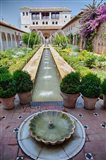 Spain, Granada Patio de la Acequia at Generalife garden