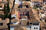 Rooftops of the town of Granada seen from the Alhambra, Spain