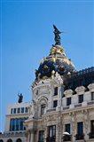 Spain, Madrid Metropolis building on Grand Via