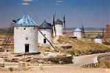 Spain, Castile-La Mancha, Toledo, Consuegra La Mancha windmills