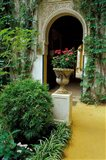 Planter and Arched Entrance to Garden in Casa de Pilatos Palace, Sevilla, Spain