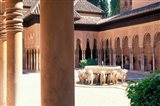 Patio de los Leones in the Alhambra, Granada, Spain