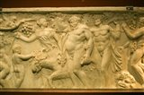 A Roman sarcophagus, Museo de la Cultura del Vino, Briones Village, La Rioja, Spain