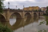 Bridge over Rio Ebro in Logrono, La Rioja, Spain