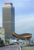 Olympic Port with Metal Mesh Fish by Frank O Gehry, Barcelona, Spain