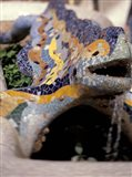 Sights of Parc Guell, Barcelona, Spain
