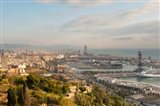 View of Barcelona from Mirador del Alcade, Barcelona, Spain
