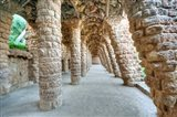 Park Guell Colonnaded Footpath, Barcelona, Spain