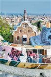 Spain, Catalonia, Barcelona, Park Guell Terrace