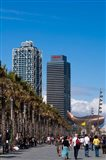 Hotel Arts and Mapfre Tower, La Barceloneta Beach, Barcelona, Spain