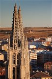 Spain, Castilla y Leon, Burgos Cathedral, Sunset