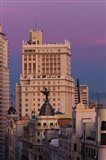 Spain, Madrid, Gran Via and Edificio Espana