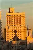 Spain, Madrid, Gran Via and Edificio Espana