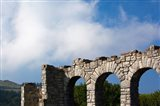 Spain, Hondarribia, abbey ruins, Jaizkibel Road