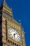 Big Ben Clock Tower on Parliament Building in London, England