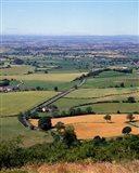 Farmland from Sutton Bank, North Yorkshire, England