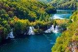 Lake Kozjak And Travertine Cascades On The Korana River, Croatia