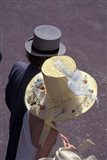 Man and woman wearing hats, Royal Ascot, London, England