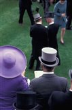 Formally dressed race patrons, Royal Ascot, England