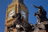 Horse and chariot statue, Big Ben, London, England