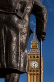 Winston Churchill statue, Big Ben, London, England