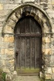 Medieval City Wall Door, York, Yorkshire, England