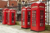 Phone boxes, Royal Courts of Justice, London, England