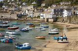 Boats in Mousehole Harbour, near Penzance, Cornwall, England