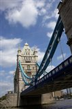 The Tower Bridge over the Thames River in London, England
