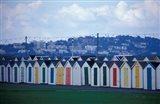 Beach Huts of Paignton, Devon, England