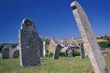 Leaning Gravestones in Cemetery, Abbotsbury, Dorset, England