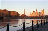 Liver Building from Albert Dock, Liverpool, Merseyside, England