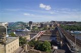 View Over the Tyne Bridges, Newcastle on Tyne, Tyne and Wear, England