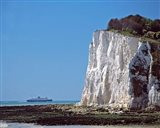 England, County Kent, White Cliffs of Dover, Ship
