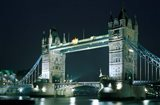 Tower Bridge at Night, London, England