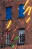 Warehouse Decorated with Neon Art, Southbank, London, England