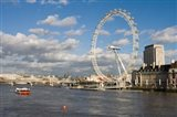 England, London, London Eye and Shell Building