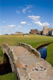Golfing the Swilcan Bridge on the 18th Hole, St Andrews, Scotland