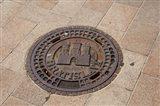 Slovakia, Bratislava, Manhole, coat of arms