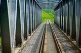 Suspending bridge, Bratislava, Slovakia