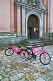 Bicycles Outside a Traditional House, Vilnius, Lithuania