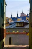 Traditional Houses in the old town, Vilnius, Lithuania