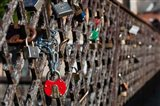 Lithuania, Vilnius, Footbridge, Lovers' Locks