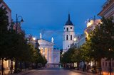 Lithuania, Vilnius, Vilnius Cathedral, evening