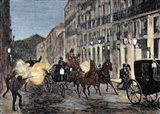 Attack On Isabella II (1830-1904) And King Francis Of Spain (1822-1902) Madrid