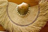 Fiji, Lautoka, Woven grass and shell fan, craft